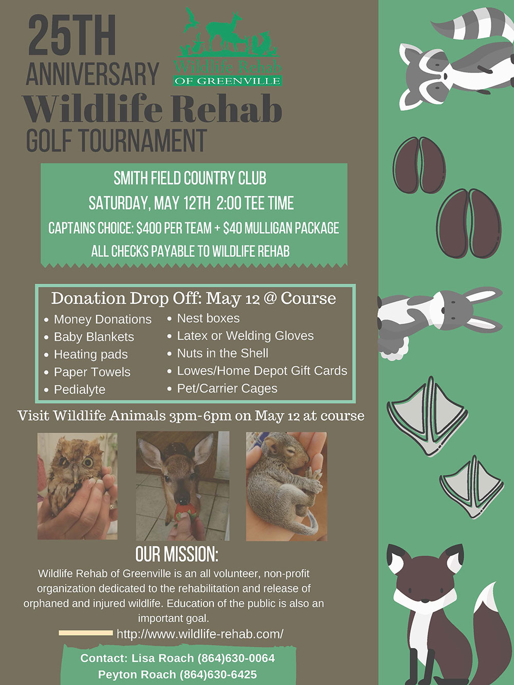 Wildlife Rehab 25th celebration golf tournament